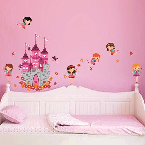 Walplus Kinder Dekoration Wandaufkleber - Prinzessinnen Schloss