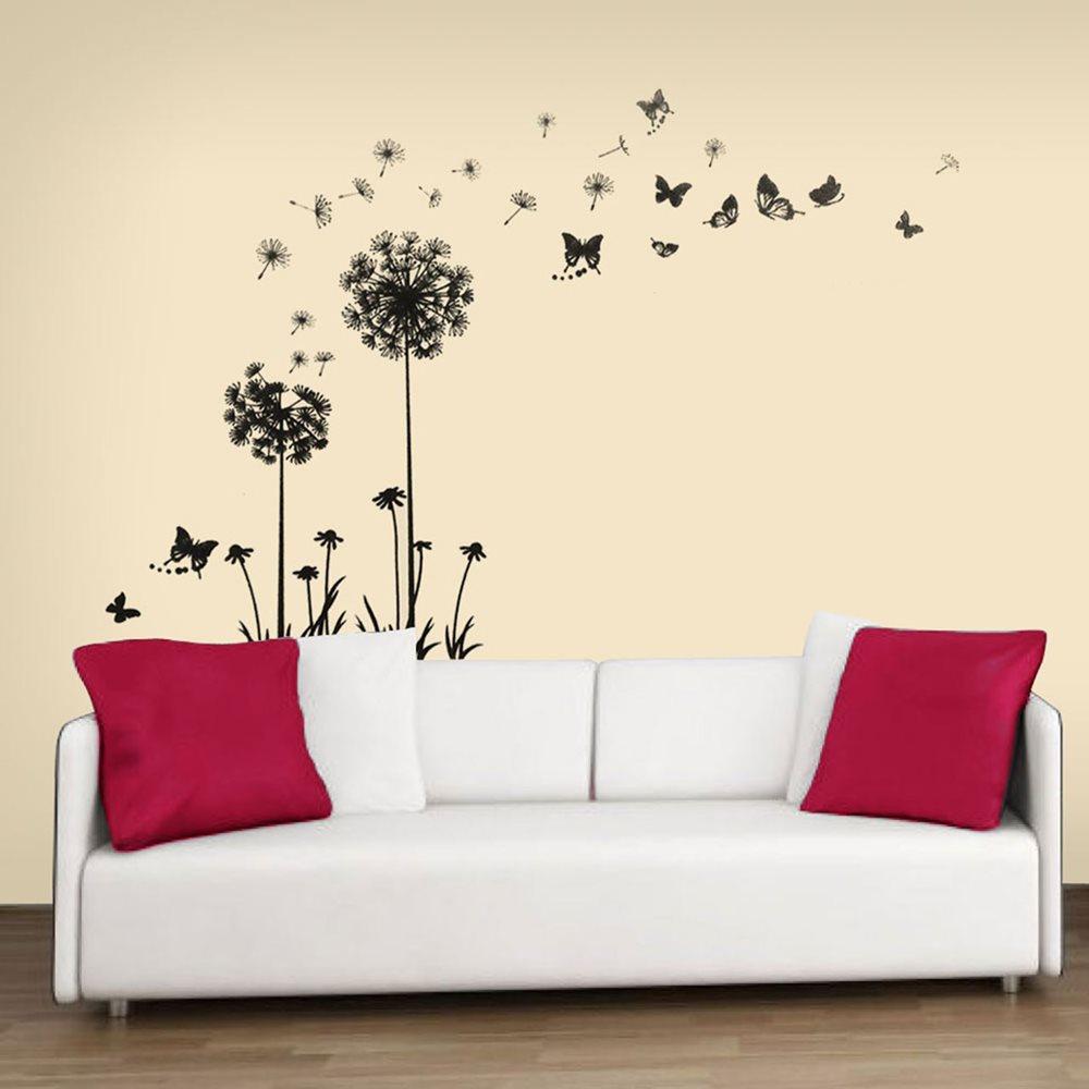 Walplus Home Decoration Sticker - Black Dandelion