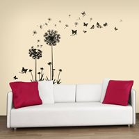Walplus Home Decoration Sticker - Black Dandelion