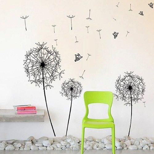 Walplus Home Decoration Sticker - Huge Black Dandelion