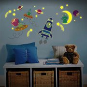 Walplus Glow in the Dark Decoratie Sticker - Galaxy