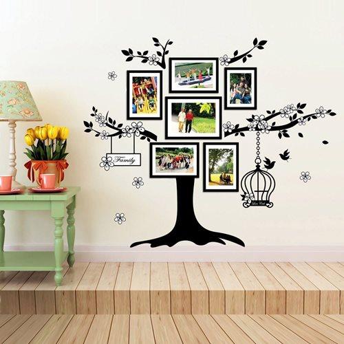 Walplus Home Decoration Sticker - Photo Frame Birdcage