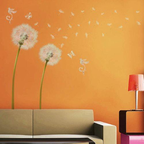 Walplus Home Decoration Sticker - White Dandelion