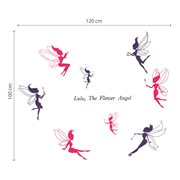 Walplus Kids Decoration Sticker - Pink Fairies Deluxe