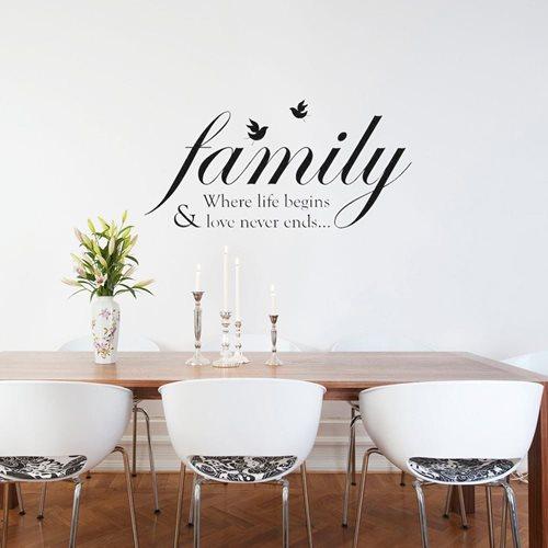 Walplus Muur Decoratie Sticker - Familie Quotes