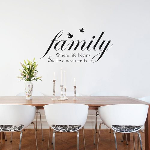 Walplus Wall Mural Decoration Sticker - Family Quotes