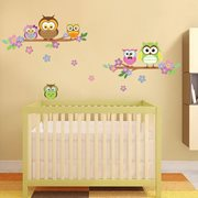 Walplus Kids Decoration Sticker - Owl Flower Tree