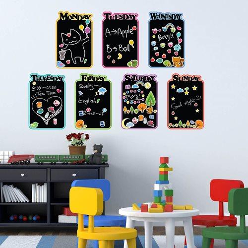 Walplus Tafel Dekoration Wandaufkleber - Kinder Tagesordnung