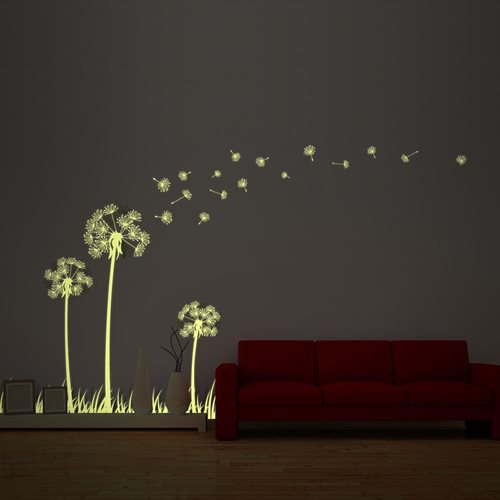 Walplus Glow in the Dark Decoration Sticker - Dandelion
