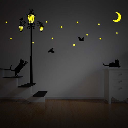 Walplus Glow in the Dark Decoration Sticker - Street Light