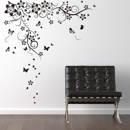 Walplus Home Decoration Sticker - Huge Butterfly Vine