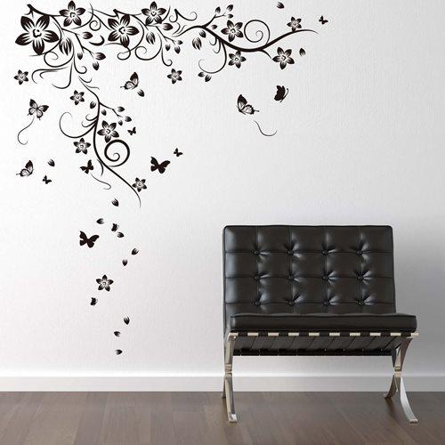 Walplus Home Dekoration Wandaufkleber - Großer Schmetterling Weinrebe