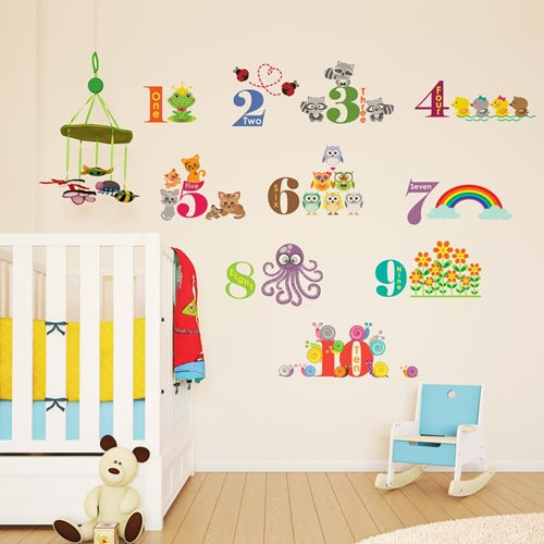 Walplus Kids Decoration Sticker - Numbering with Animals