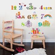 Walplus Kids Decoration Sticker - Numbering with Animals