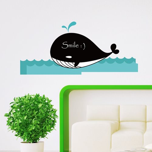 Walplus Chalkboard Decoration Sticker - Whale
