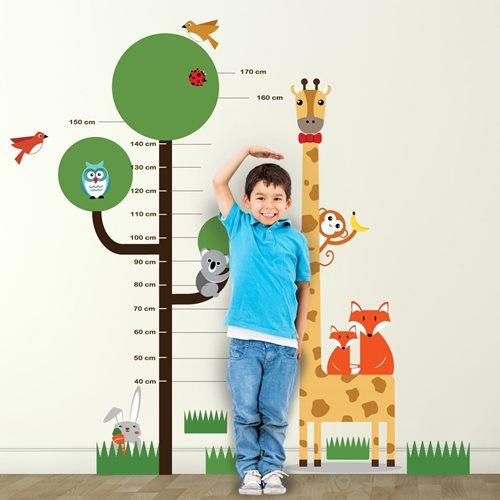 Walplus Kinder Dekoration Wandaufkleber - Maßtabelle Baum mit Tiere