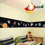 Walplus Glow in the Dark Decoration Sticker - Space Walk