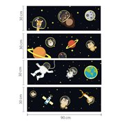 Walplus Glow in the Dark Decoration Sticker - Space Walk