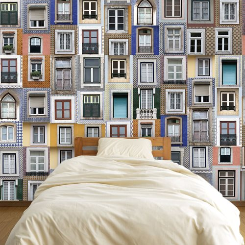 Walplus Wall Mural Decoration Sticker - Lisbon Windows