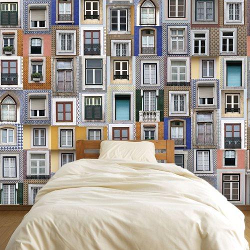 Walplus Wandgemälde Art Aufkleber - Lissabon Fenster