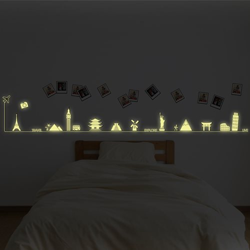 Walplus Glow in the Dark Decoration Sticker - Travel Around the World