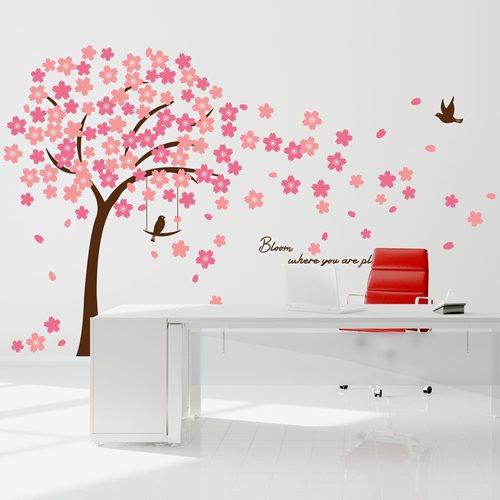 Walplus Home Dekoration Wandaufkleber - Rosa Kirschblüten