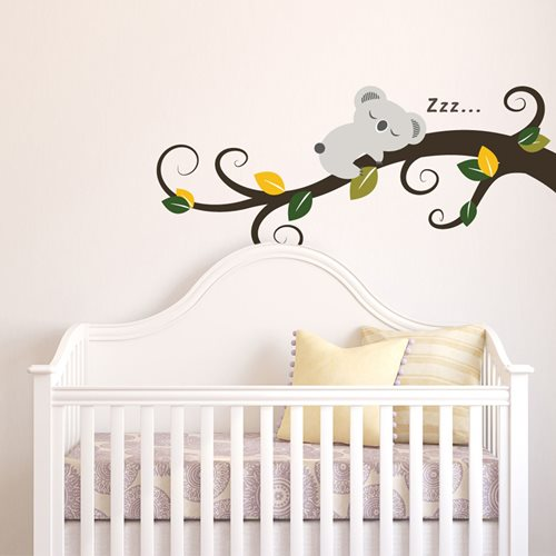 Walplus Kids Decoration Sticker - Sleeping Koala on Tree Branch