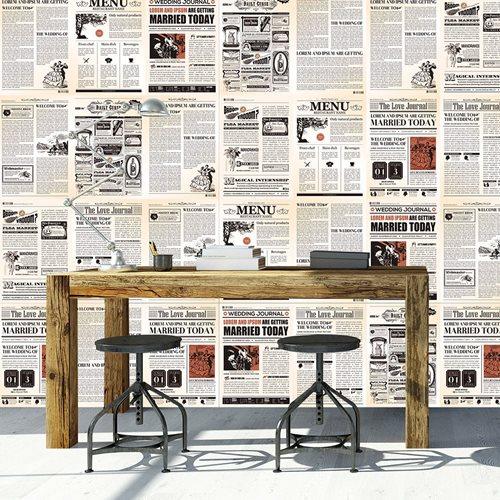 Walplus Muur Decoratie Sticker - Vintage Krant