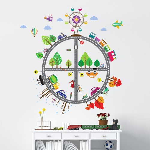 Walplus Kids Decoration Sticker - Kid's Transports