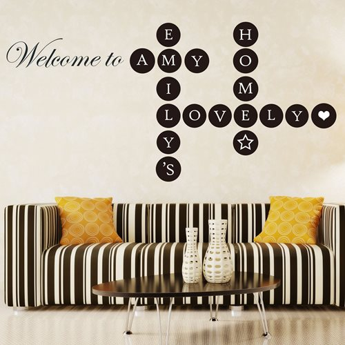 Walplus Home Decoration Sticker - Welcome Home Puzzle Lettering