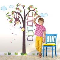 Walplus Kids Decoration Sticker - Growth Chart Monkey in Tree
