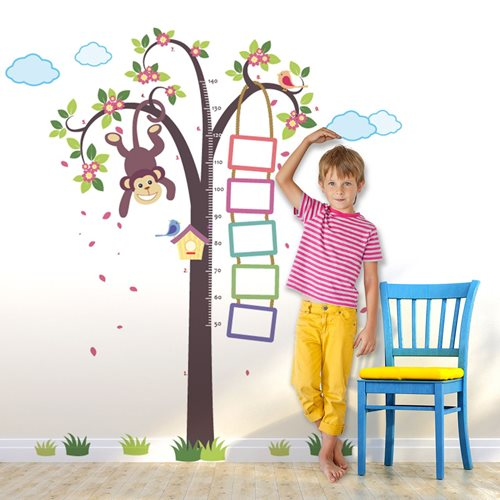 Walplus Kids Decoration Sticker - Growth Chart Monkey in Tree