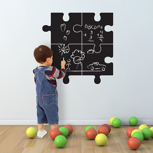 Walplus Chalkboard Decoration Sticker - Puzzle