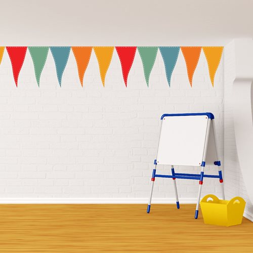 Walplus Home Decoratie Sticker - Feestvlaggen