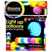 LED Balloons Mixed 15 pack