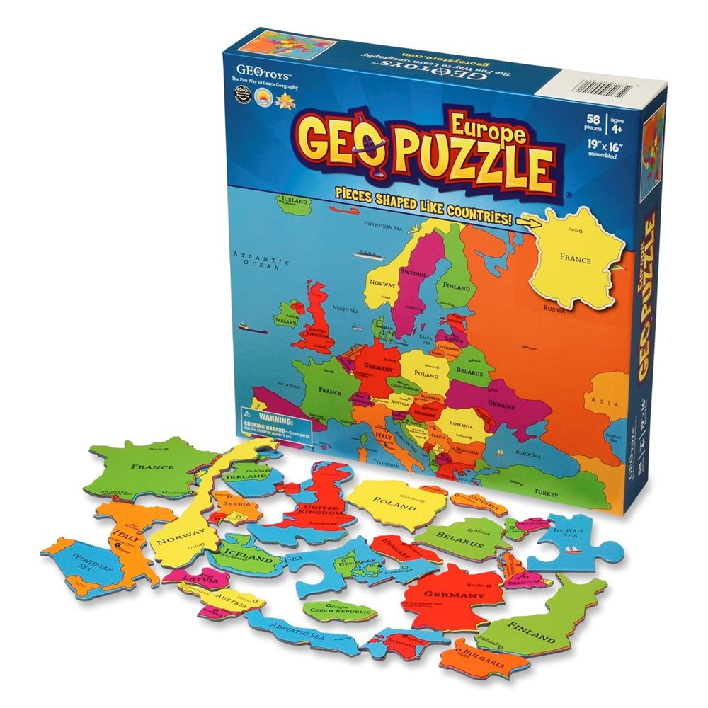 GeoPuzzle Europe 58 pieces (ENG)