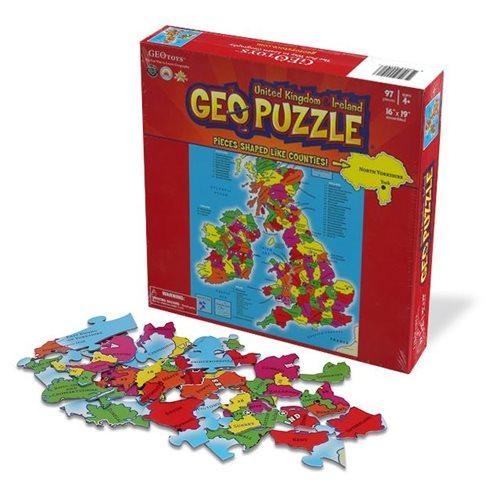 GeoPuzzle Vereinigtes Königreich/Irland 97 Teile (ENG)