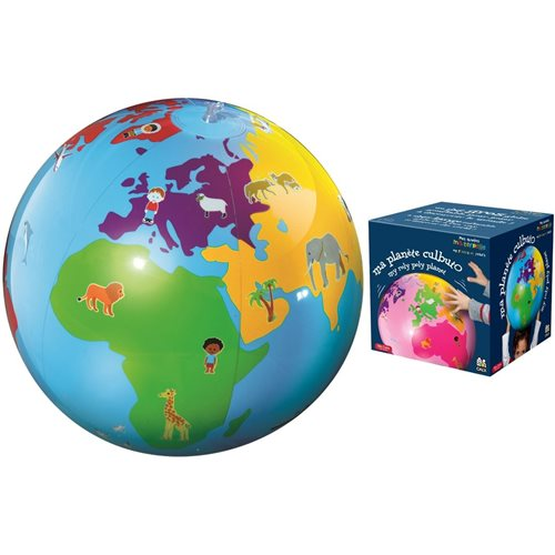 Caly Toys Inflatable Culbuto Globe - Blue