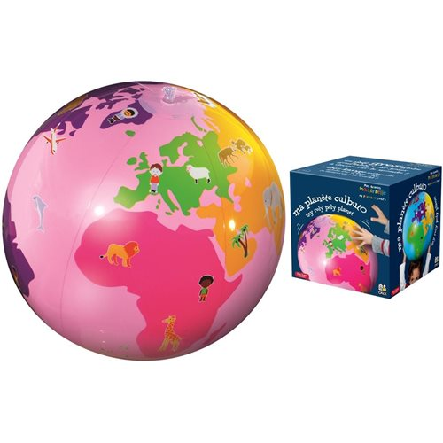 Caly Toys Inflatable Culbuto Globe - Pink