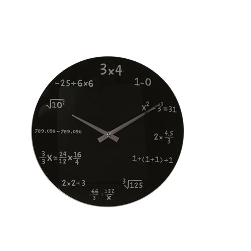 Math Wall Clock - Black