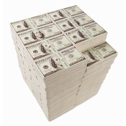 Rotary Hero Dollar Stool - USD Side Table – 3 Million U.S. Dollar – L30xW29xH38cm
