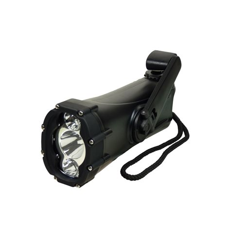 PowerPlus Shark - Dynamo LED Zaklamp en Noodlader - Waterproof