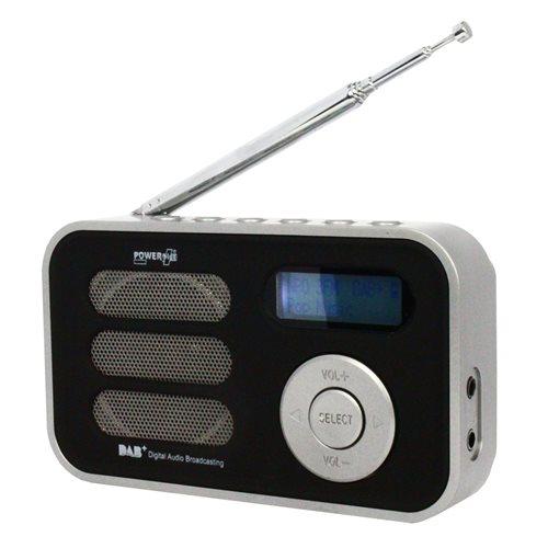 PowerPlus Stork - Solar USB Portable DAB+/FM Radio with Alarm