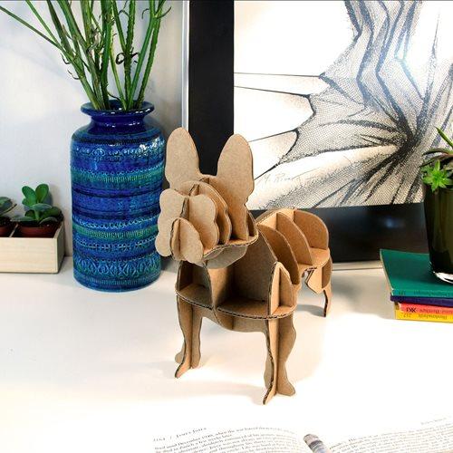 Milimetrado - Mini Französische Bulldogge Papphund - Dekoratives Bild oder Figur