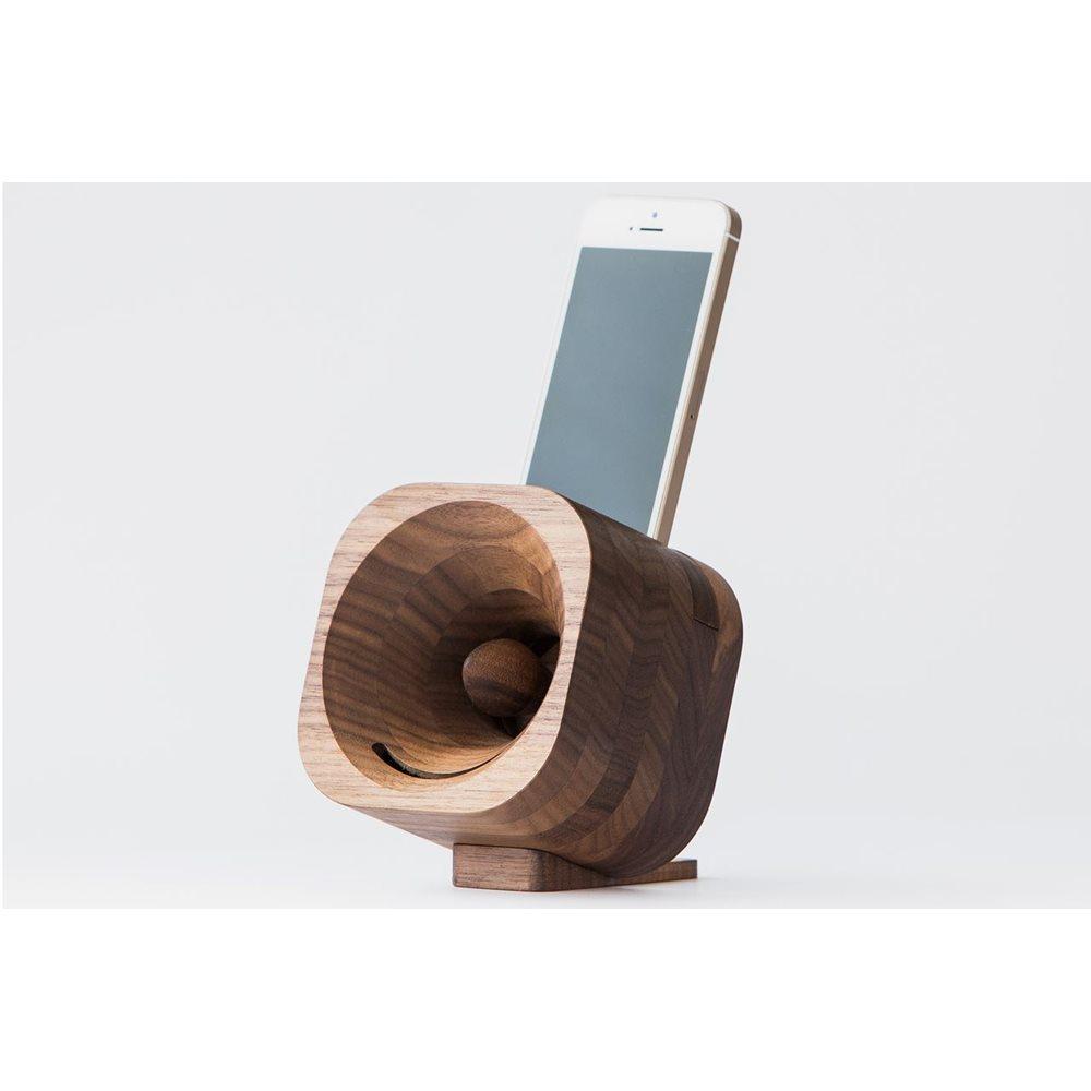 Trobla Houten Versterker - iPhone 5 (s/se) + iPod Touch 5/6 - Walnoot
