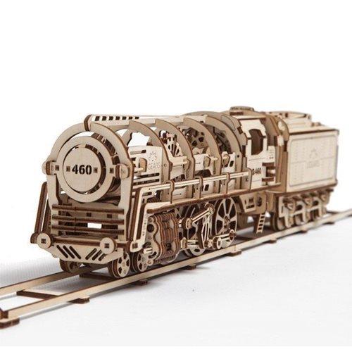 Ugears Holzbausatz - Lokomotive mit Kohlenwagen