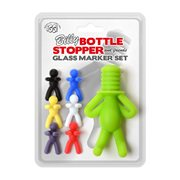 IGGI Billy Bottle Stopper and Friends Glass Marker Set
