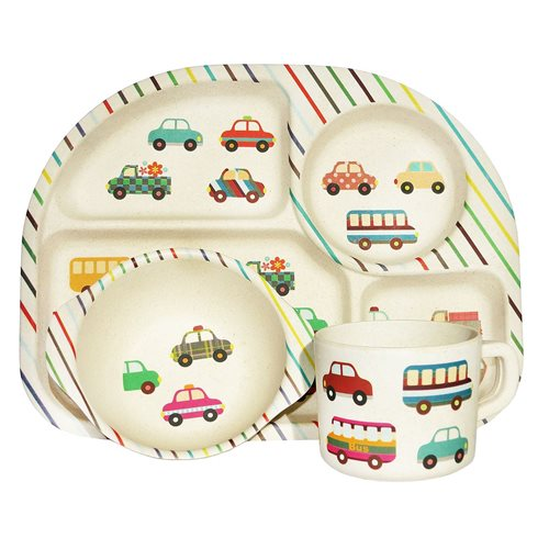 BimBamBoo Kids Dinner Set - Transport