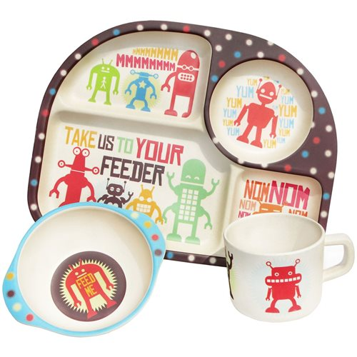 BimBamBoo Kids Dinner Set - Robots