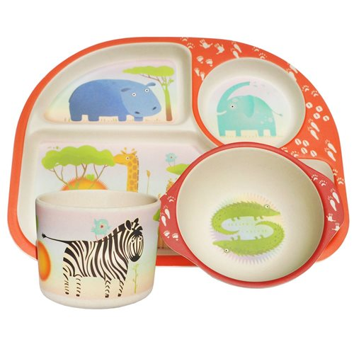 BimBamBoo Kids Dinner Set - Wild Animals
